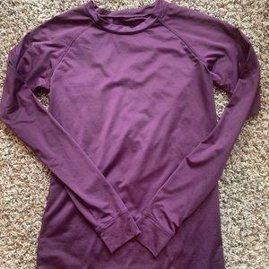 Gilligan & O'Malley Tops - Baselayer Purple Long Sleeve